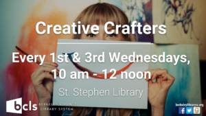 Creative Crafters @ St. Stephen Library | Saint Stephen | South Carolina | United States